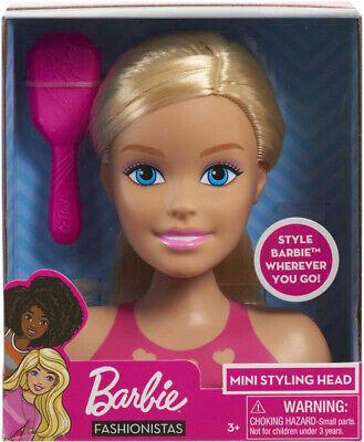 Barbie Mini Rubia Estilismo Cabeza Nuevo