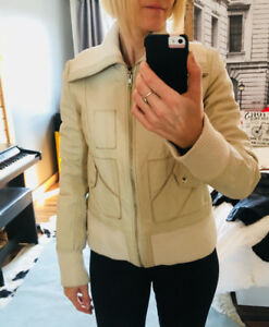 Manteau mackage en cuir beige small