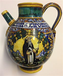 Majolica Pitcher Reproduction Museum Piece