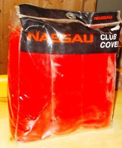 SET  OF  NASSAU  DELUXE  GOLF  CLUB  COVERS  NEW