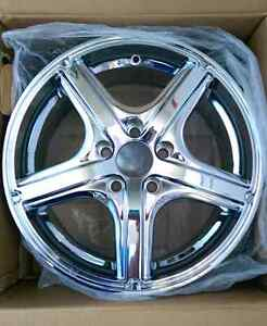 NEW CHROME RIMS STILL IN BOXES TRADE FOR UTILITY  TRAILER