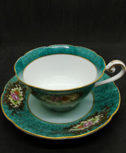 Antique China Castle Tea Cup & Saucer (Occupied Japan)