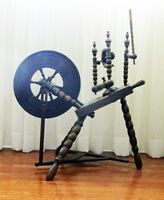 vintage treadle spinning wheel, 1850's