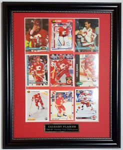 1988-89 CALGARY FLAMES Stanley Cup Champions 11x14 Hockey Frame
