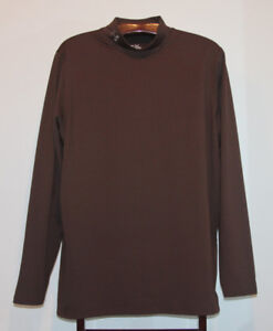 UNDER ARMOUR COLD GEAR FITTED MOCK TURTLENECK BROWN SIZE XXL