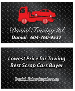 Towing and scrap car removal / JUNK CAR REMOVAL      6047609537