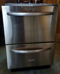 Kitchen Aid Stainless Steel Two Drawer Dishwasher