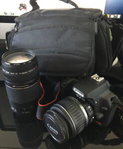 CANON EOS REBEL XS with 18-55 and 75-300