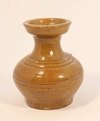 Han Dynasty Hu Jar with Amber Glaze circa 206 B.C A.D. 220