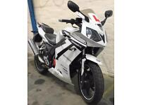 2013 63 DAELIM VJF 125 ROADSPORT ROADWIN R WHITE LEARNER LEGAL PROJECT/TRADESALE