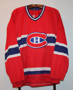CCM MAURICE ROCKET RICHARD MONTREAL CANADIENS HOCKEY JERSEY XXL