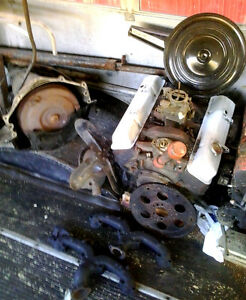 283 cid Motor Block with Automatic Transmission