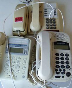 Phones white housing.
