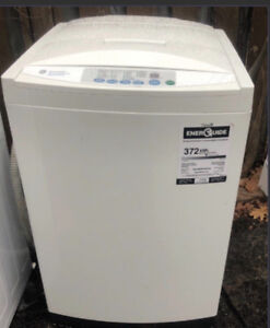 GE stacking spacesaver washer and dryer for sale.