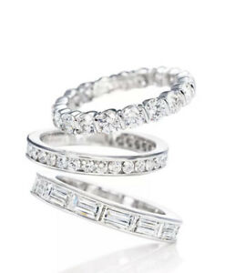 $9150 TIFFANY PLATINUM  DIAMOND BAGUETTE RING BAND 1.98 K - 7