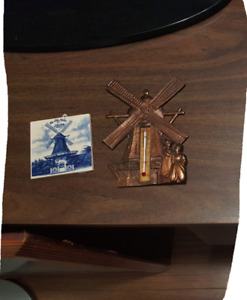 WINDMILL THERMOSTAT AND PICTURE FRAME FOR SALE! MINT CONDITION!