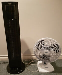 Tower and desk FAN. Think positive, think summer !!