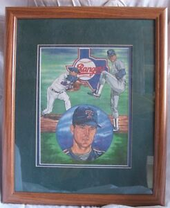 1990's Nolan Ryan Lithograph #/5000 Framed and Matted
