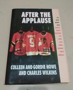 Gordie Howe signed book