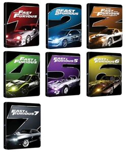 BLU-RAY! FAST AND THE FURIOUS 1-7 STEELBOOKS