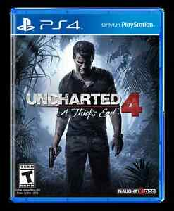 Uncharted 4 and NBA2K16 for PS4