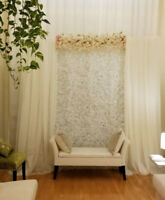 flower wall / backdrop, rent $250 including free setup/pick-up