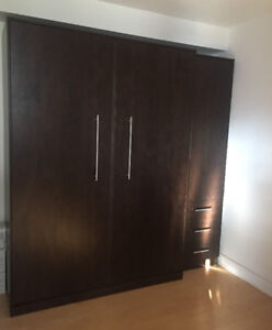 lit mural / wall mounted fold away bed