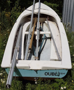 Small Sailboat and trailer