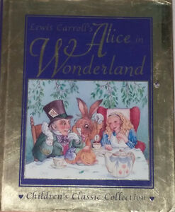 Alice in Wonderland Large Hard Cover Book with Slip Cover