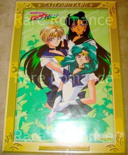 Sailor Moon - Stars Banpresto Poster #3 Uranus Neptune Pluto Japan 1996 - 20x28