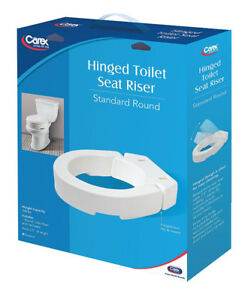 Carex Hinged Toilet Seat Riser for Round Toilet New, Neuf