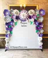 Paper Flowers - Backdrops, Giant Standing Flowers and MORE!