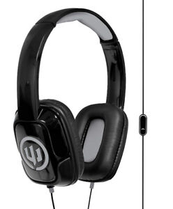 Wicked Audio Sentinel Headphones with Microphone, Black/Grey