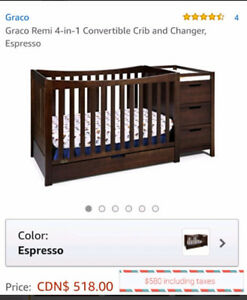 4 in 1 convertible crib and change table