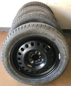 Winter Tires and Rims 235/50R18 with 90% tread