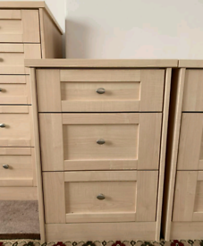 3x Set of Drawers & Matching Bedside Cabinets – AS NEW