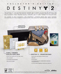 Destiny 2 PS4 collectors edition mint never opened(not console)