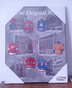 original six hockey poster