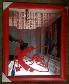 Liverpool 80s Collectable Picture Frame Mirror - You'll Never Walk Alo