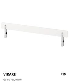 IKEA toddler bed guard rail x2