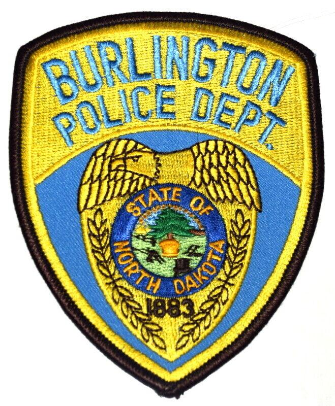 BURLINGTON NORTH DAKOTA ND Sheriff Police Patch STATE SEAL INDIAN BUFFALO ~