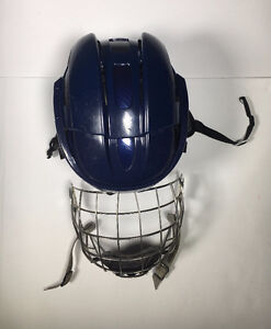 CCM FITLITE NAVY HELMET (WITH CAGE)
