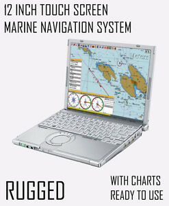*TOUCH* 12 INCH MARINE CHART PLOTTER SYSTEM + GPS + NAVIGATION