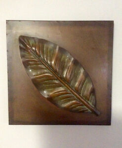 Copper Tone Metal Wall Art Picture, Ready To Hang - St. Thomas