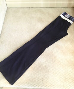 Navy blue Groove pants 6 (long but hemmed to a (33inch) $40