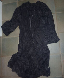 Black nylon coat (gown), mens S|M, NEW camouflage face paint $ 2