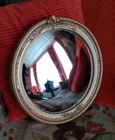 Rare Vintage Convex Mirror.