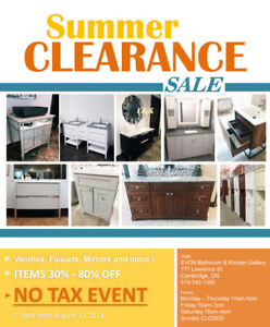 BATHROOM VANITY ON SALE / FLOOR MODEL CABINETS and more..