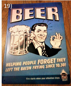 Funny Beer Metal Plaque/Plate Sign