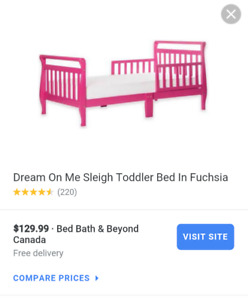Brand new toddler bed